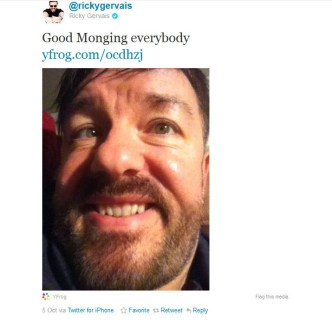 Twitter - @rickygervais- Good Monging everybody h ____1319720798730
