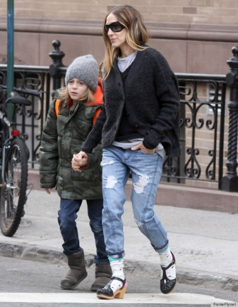 Sarah Jessica Parker Walks James To School