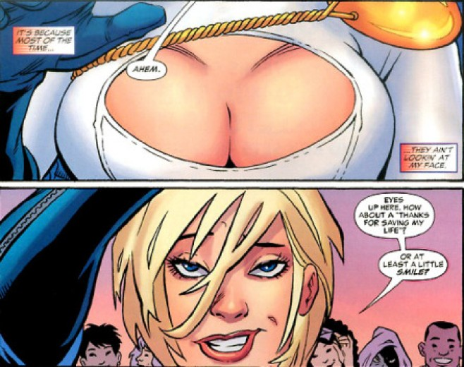 Breasts, Superheroes, and the Contrast between Comic Books and Film/TV